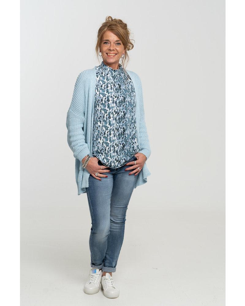 Vera Jo Blouse blauw Mia