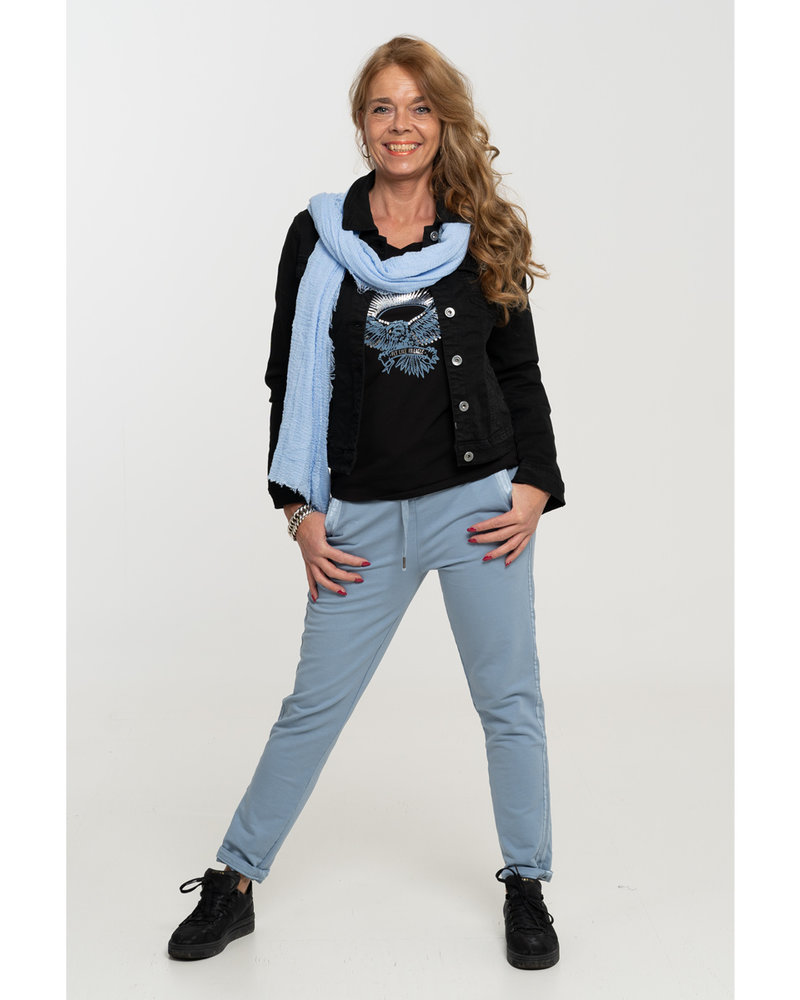 Gemma Ricceri Shirt zwart/blauw Adelaar