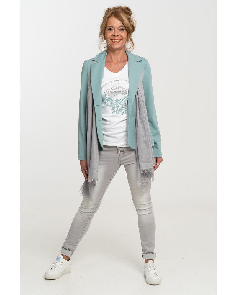 Gemma Ricceri Shirt wit/mintgroen Adelaar