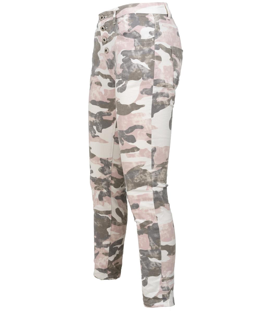 Wonderbaarlijk jog jeans grijs/roze camouflage - Wannahavesfashion RE-44