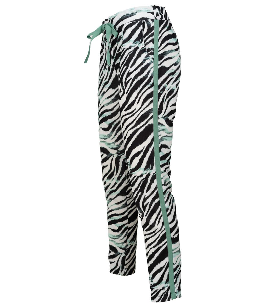 Gemma Ricceri Broek zwart/groen zebraprint Reina