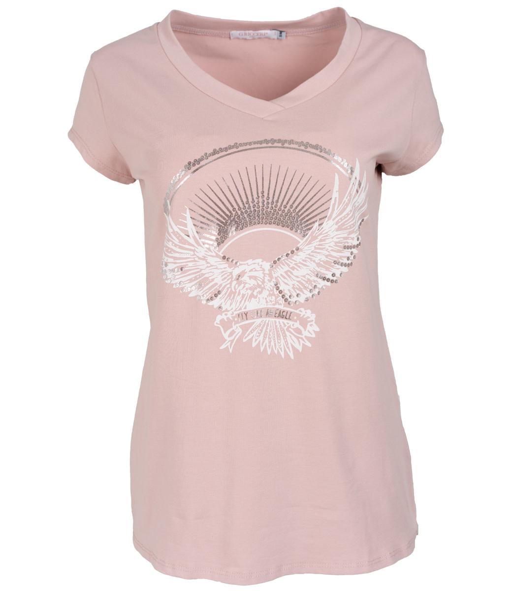 Gemma Ricceri Shirt roze/wit Adelaar