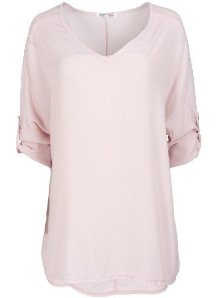Wannahavesfashion Shirt roze basic Dewi