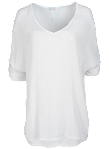 Wannahavesfashion Shirt wit basic Dewi