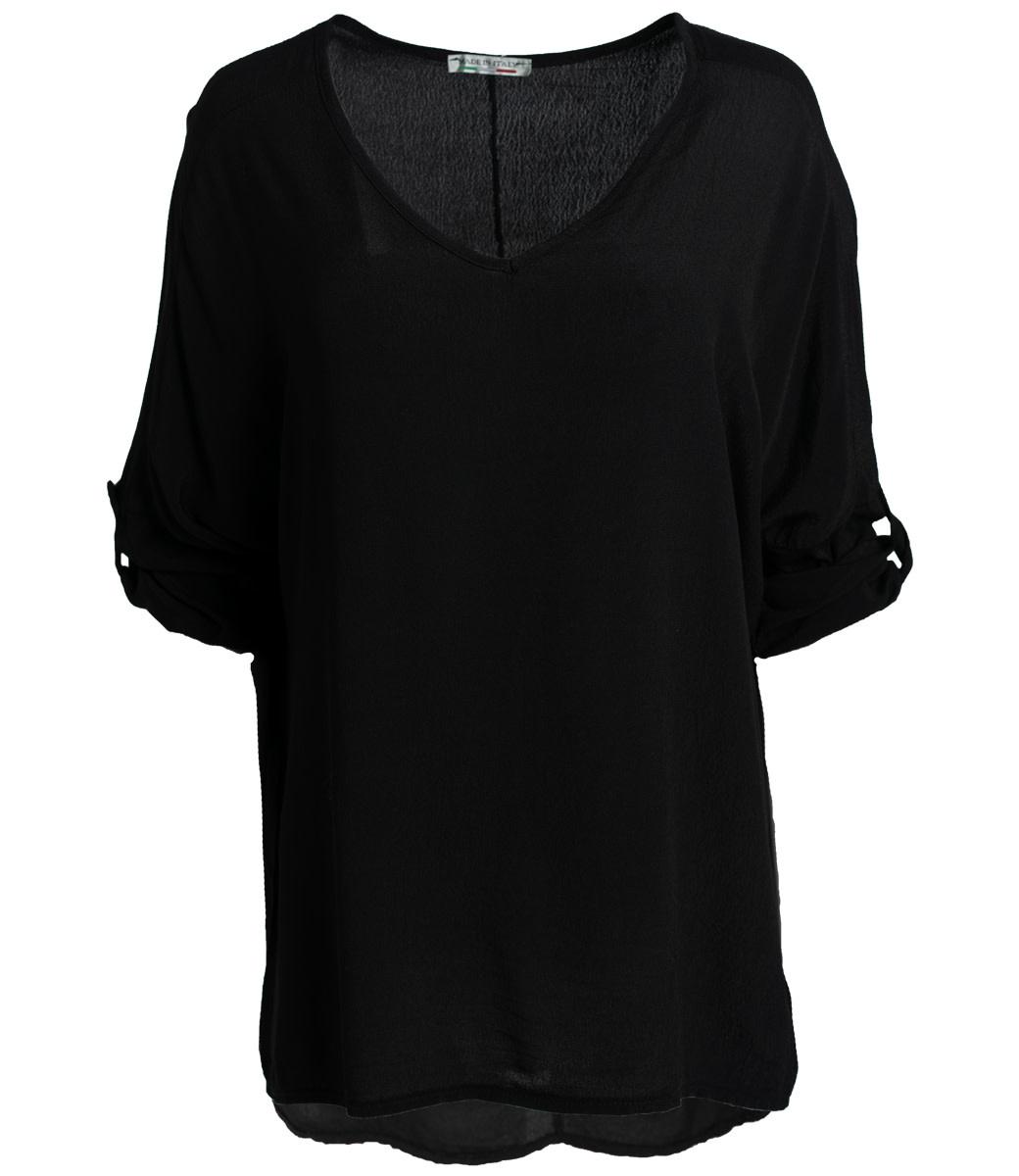 Wannahavesfashion Shirt zwart basic Dewi