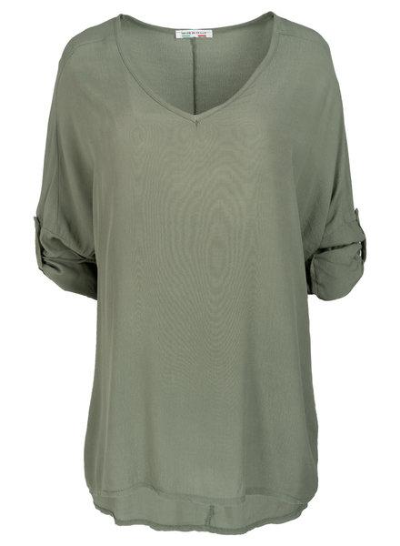 Wannahavesfashion Shirt groen basic Dewi