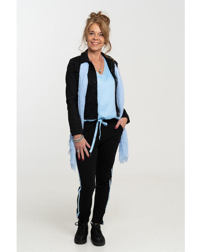 Gemma Ricceri joggingbroek zwart/blauw Lua