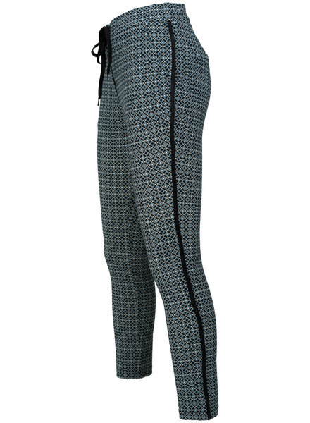 Vera Jo Pantalon zwart/jeansblauw Mila