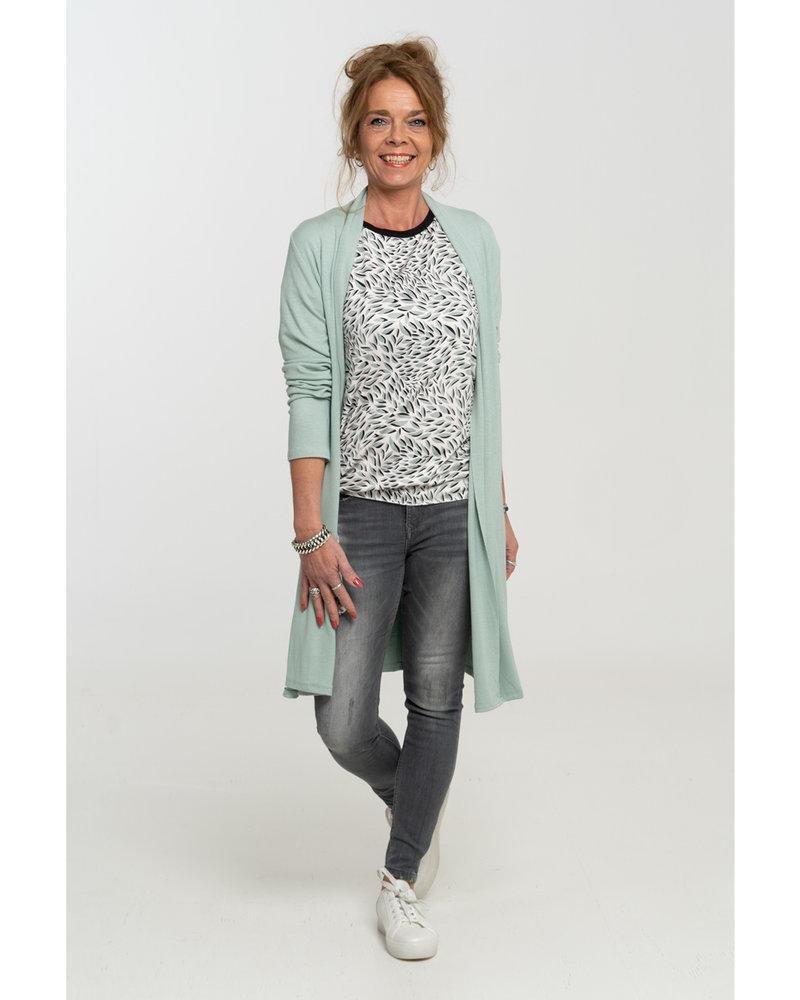 Gemma Ricceri Shirt zwart/groen Robin