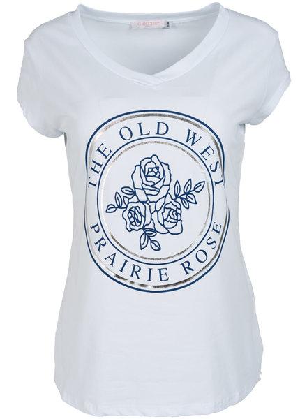 Gemma Ricceri Shirt wit/donkerblauw old west