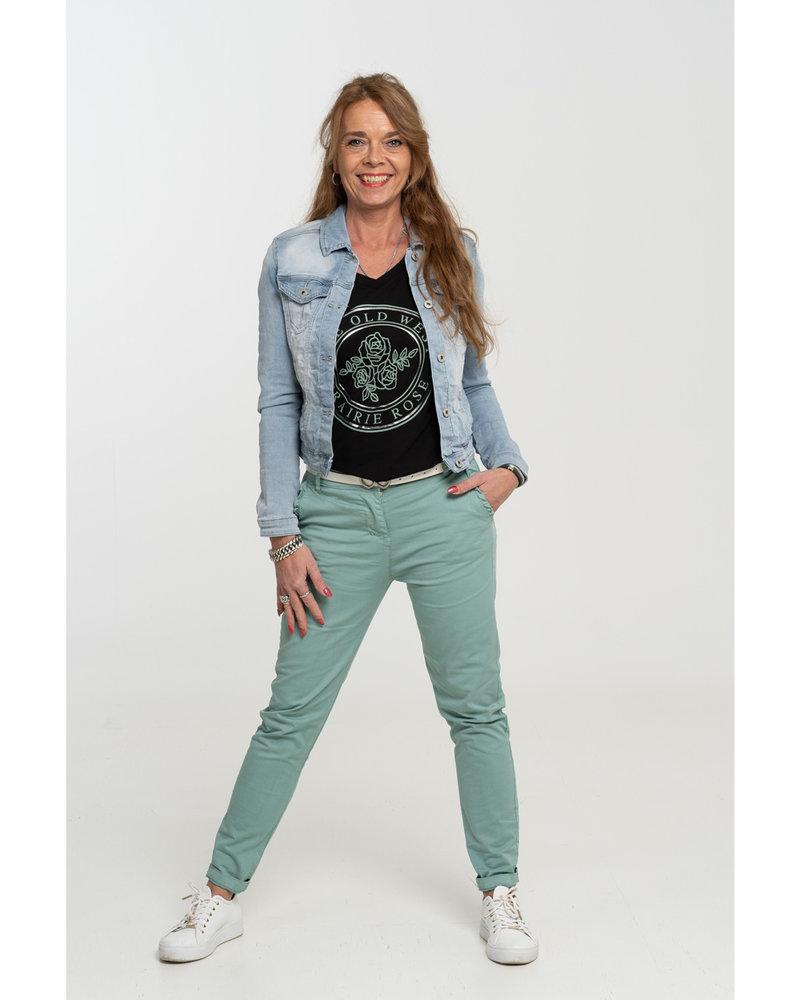 Gemma Ricceri Shirt zwart/mintgroen old west