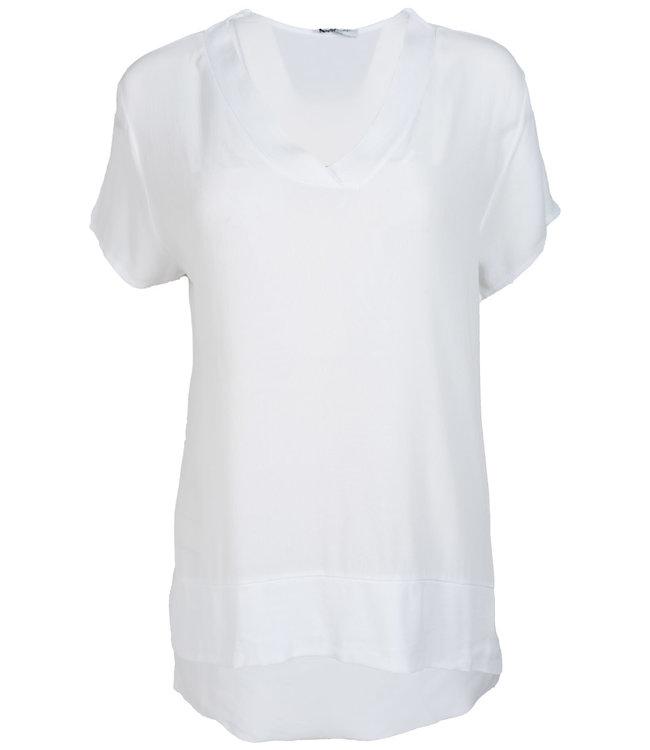 Gemma Ricceri Shirt wit v hals Macy