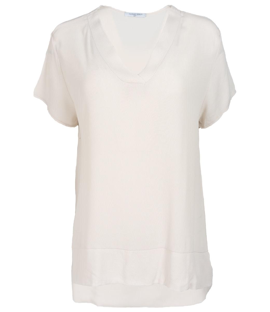 Gemma Ricceri Shirt beige v hals Macy
