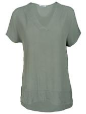 Gemma Ricceri Shirt legergroen v hals Macy