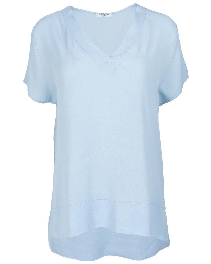 Gemma Ricceri Shirt lichtblauw v hals Macy