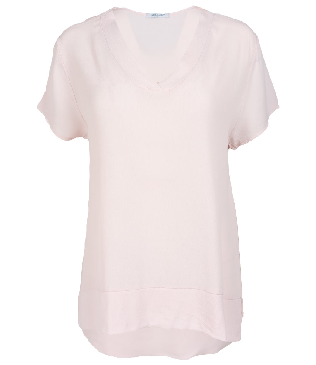 Gemma Ricceri Shirt roze v hals Macy