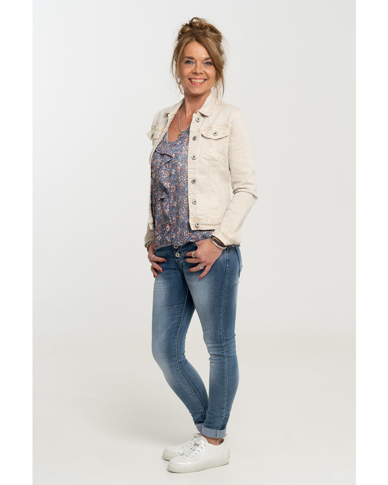 Vera Jo Blouse jeansblauw Bibbi