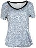 Gemma Ricceri Shirt jeansblauw panter