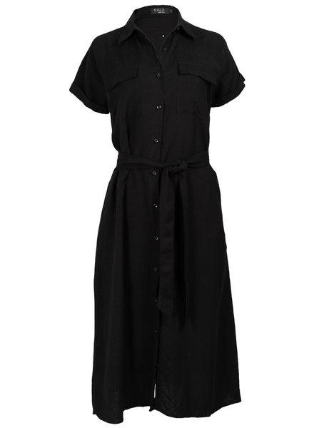 Rebelz Collection Jurk linnen maxi zwart