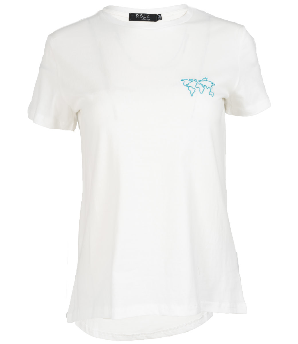 Rebelz Collection Shirt wit/blauw world