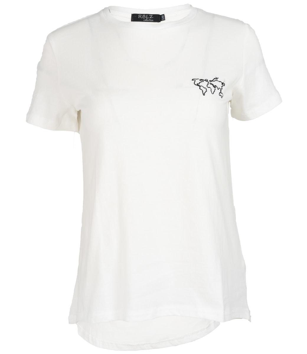 Rebelz Collection Shirt wit/zwart world