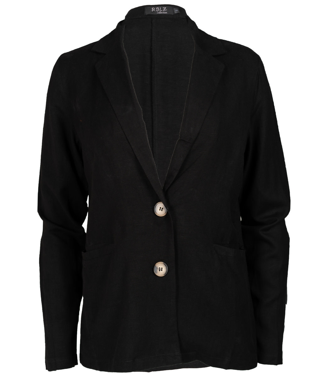 Rebelz Collection Blazer linnen zwart