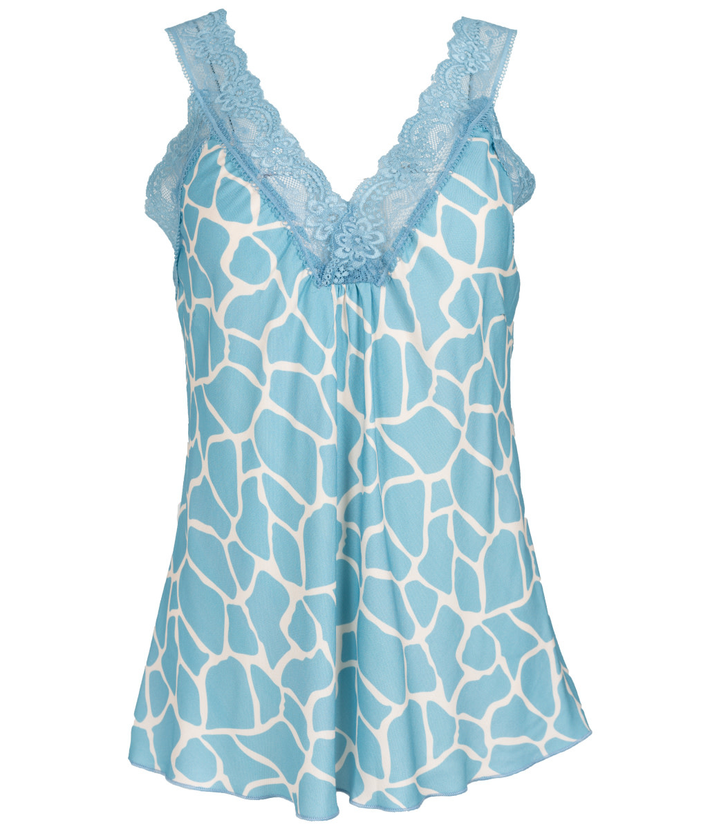Wannahavesfashion Top blauw/wit Christa