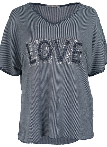 Wannahavesfashion Shirt blauw love