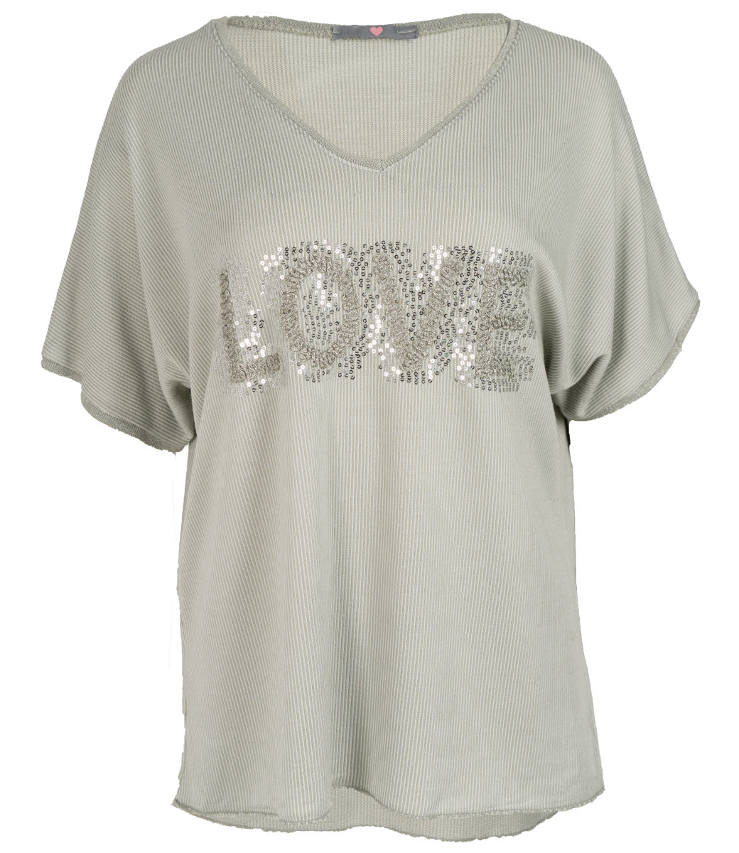Wannahavesfashion Shirt groen love