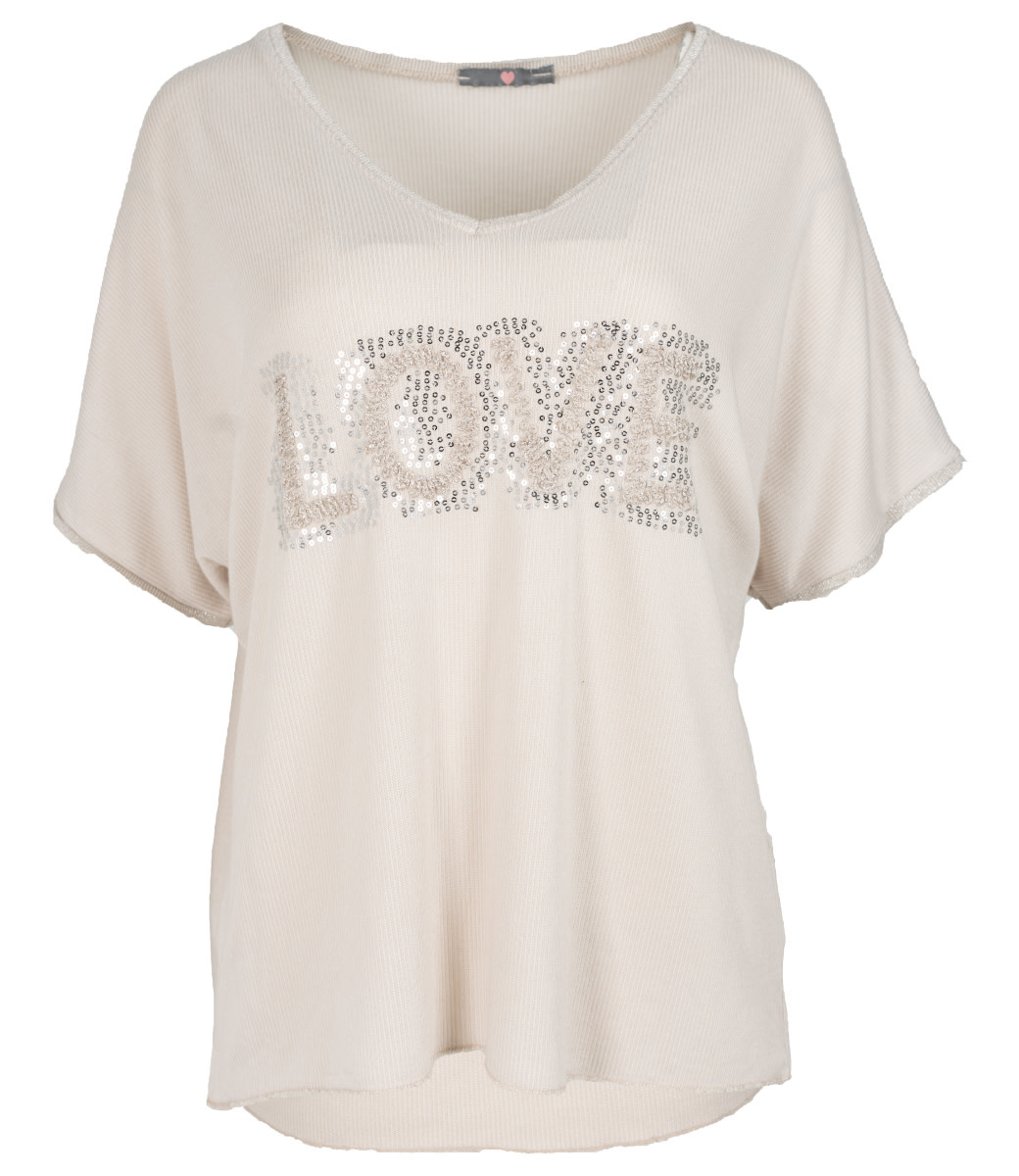 Wannahavesfashion Shirt beige love