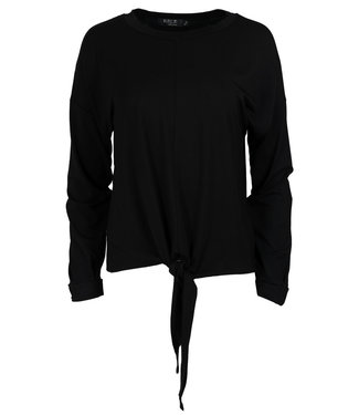 Rebelz Collection Shirt zwart knoop Lisa