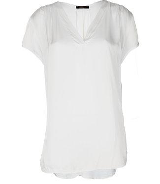 Gemma Ricceri Shirt Silk touch v hals off-white