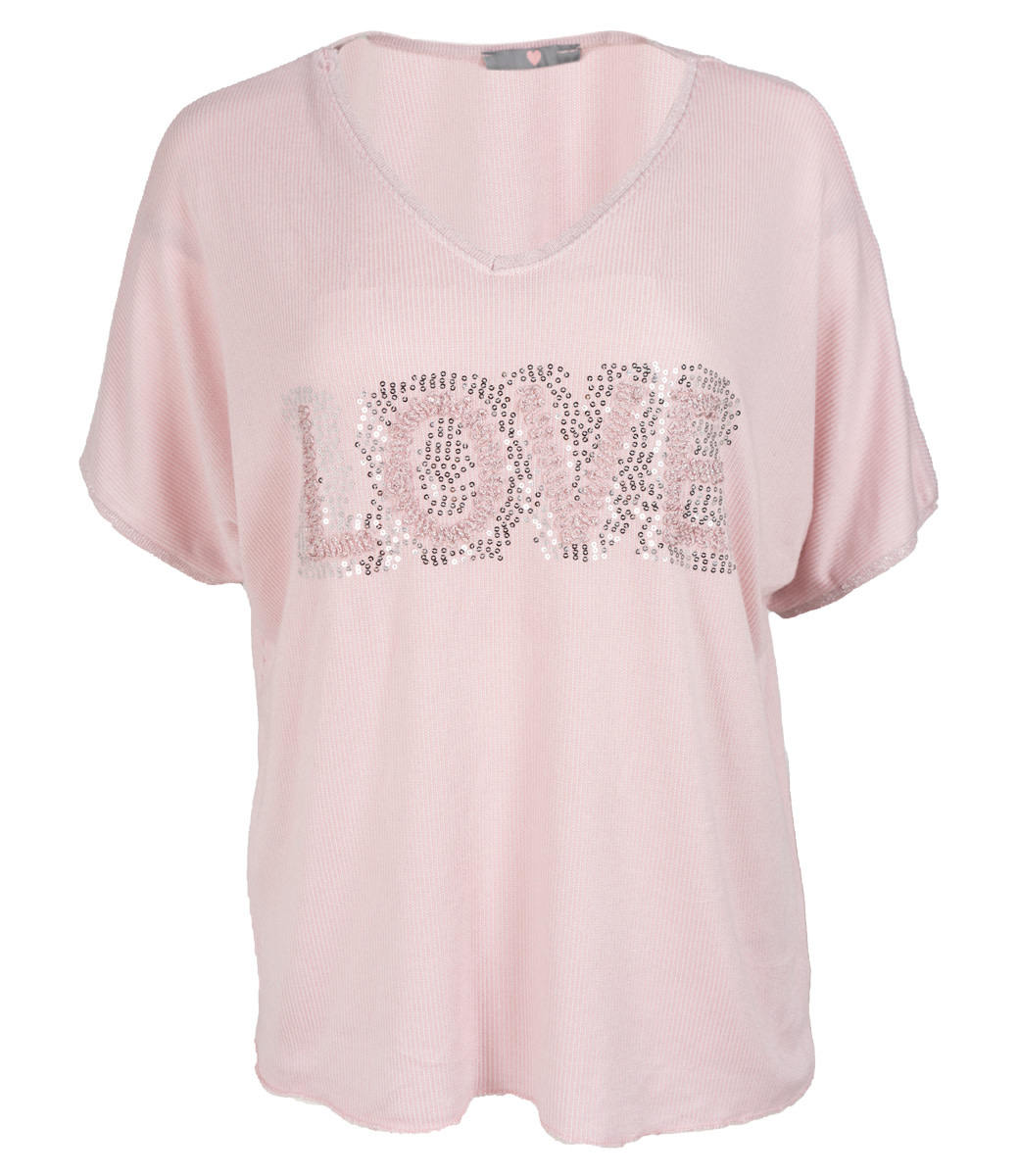 Wannahavesfashion Shirt roze love
