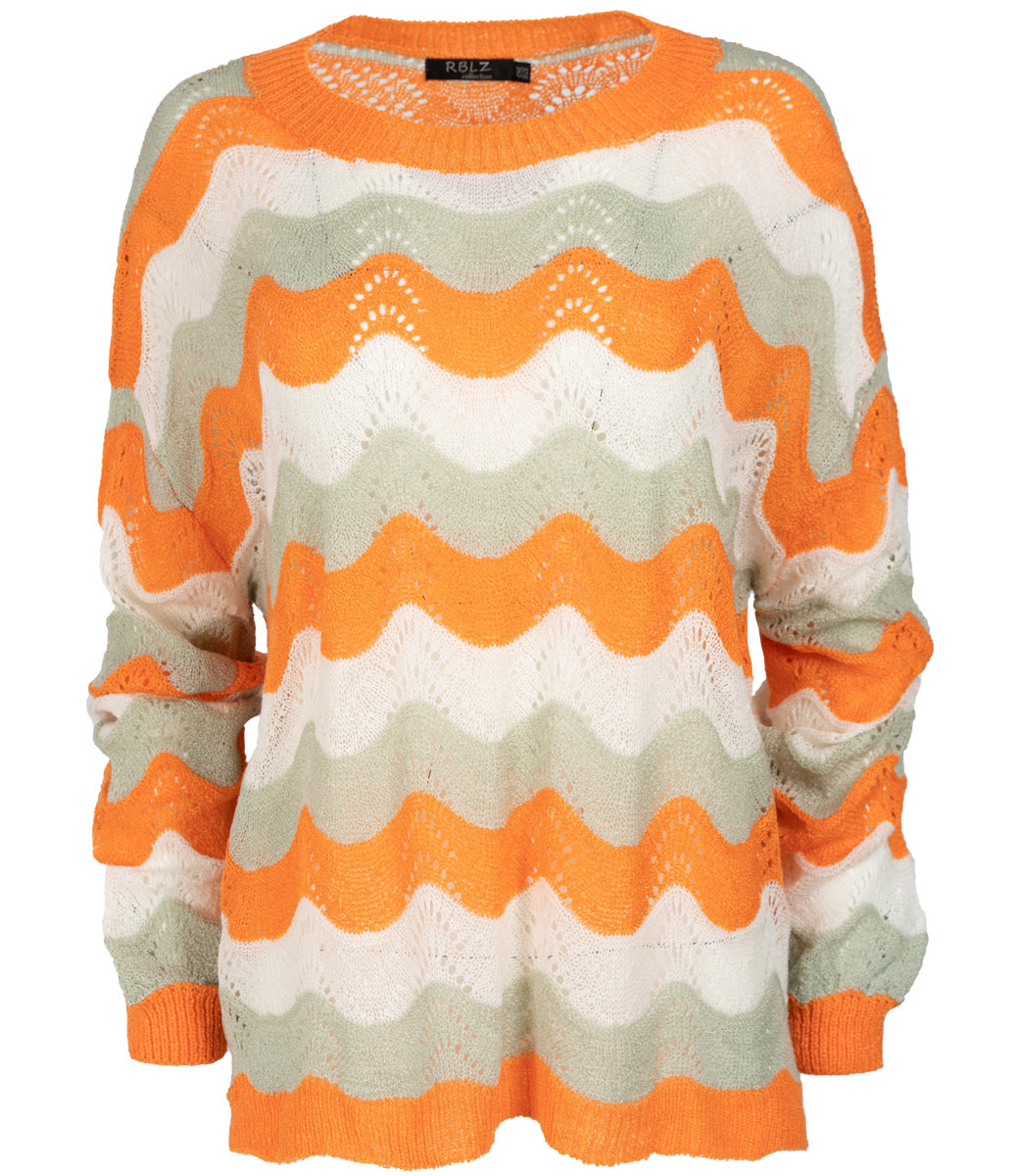 Rebelz Collection Trui oranje zigzag