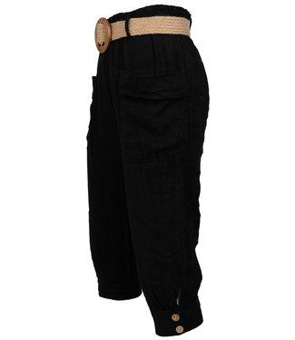 Wannahavesfashion Capri zwart linnen Bo