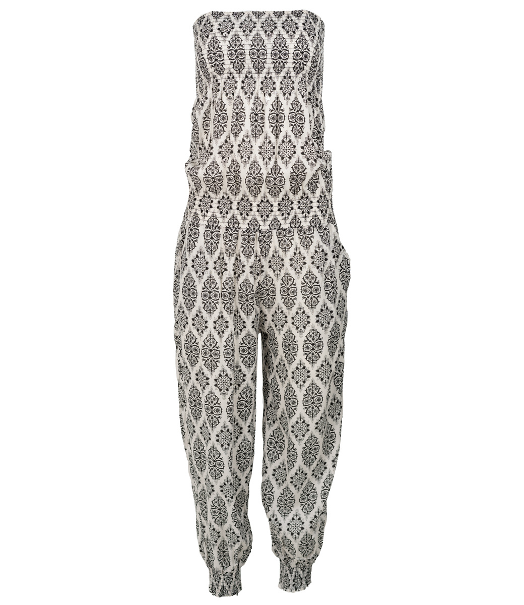 Wannahavesfashion Jumpsuit wit/zwart Clara