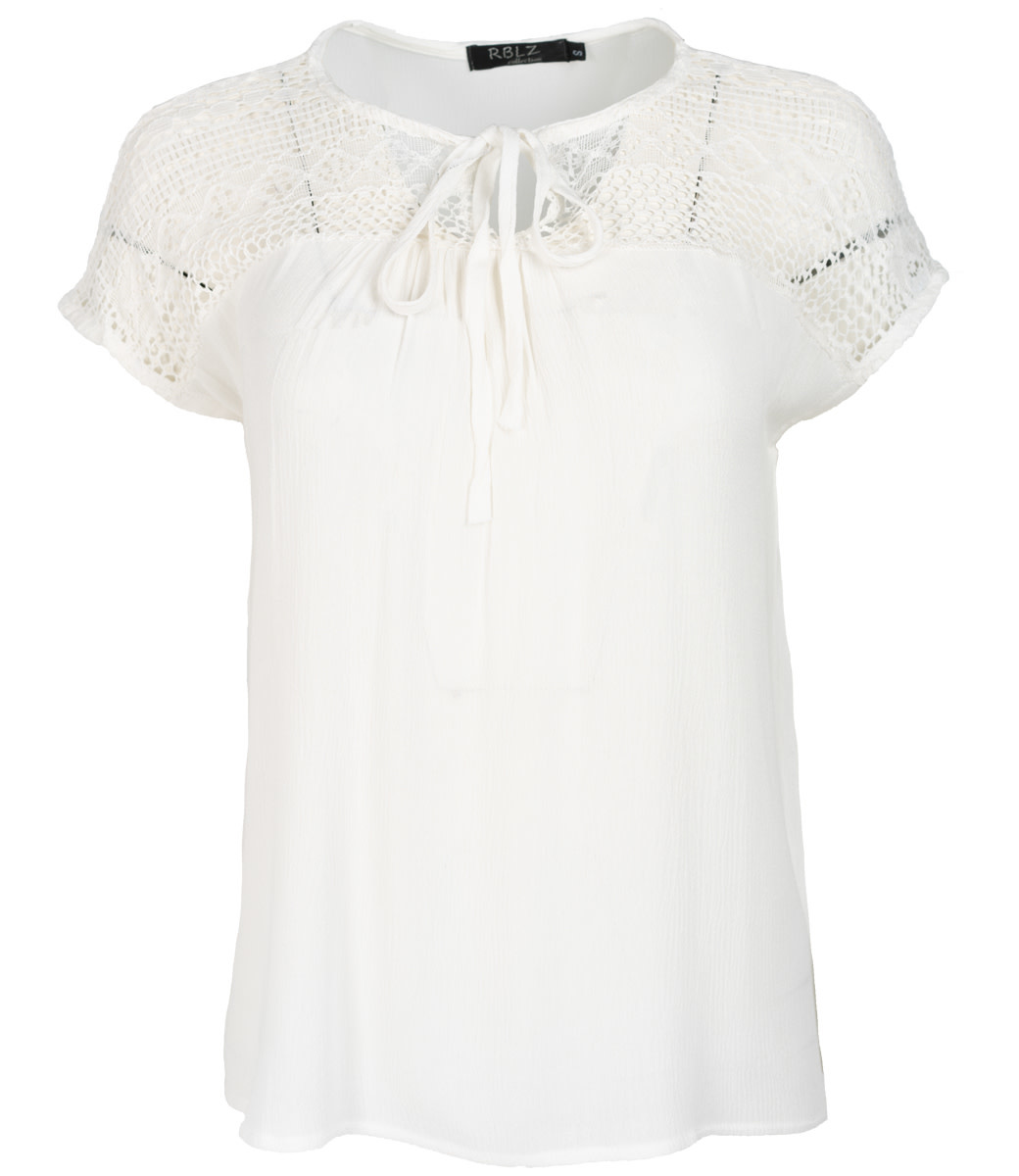 Rebelz Collection Top kant off white Anne