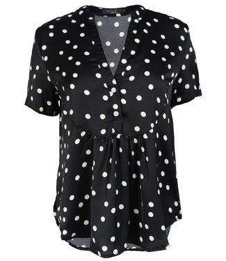 Rebelz Collection Blouse stip zwart/wit Eva