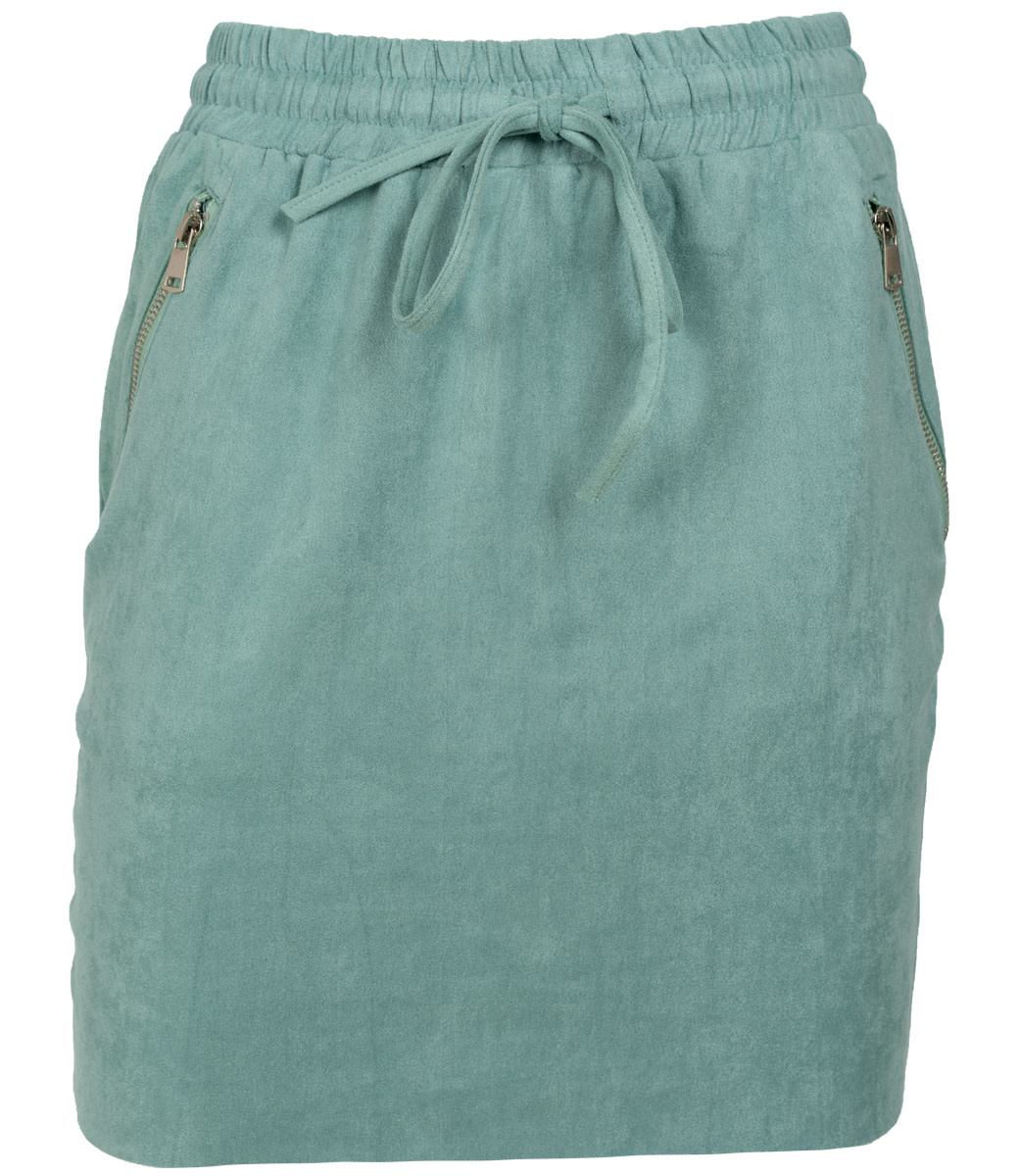 Rebelz Collection Rok suedine groen Tiffy