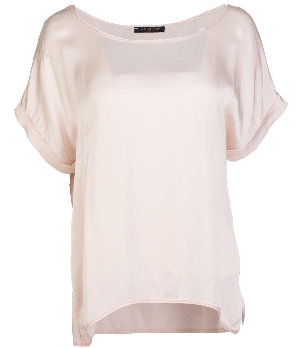 Gemma Ricceri Shirt roze silk touch