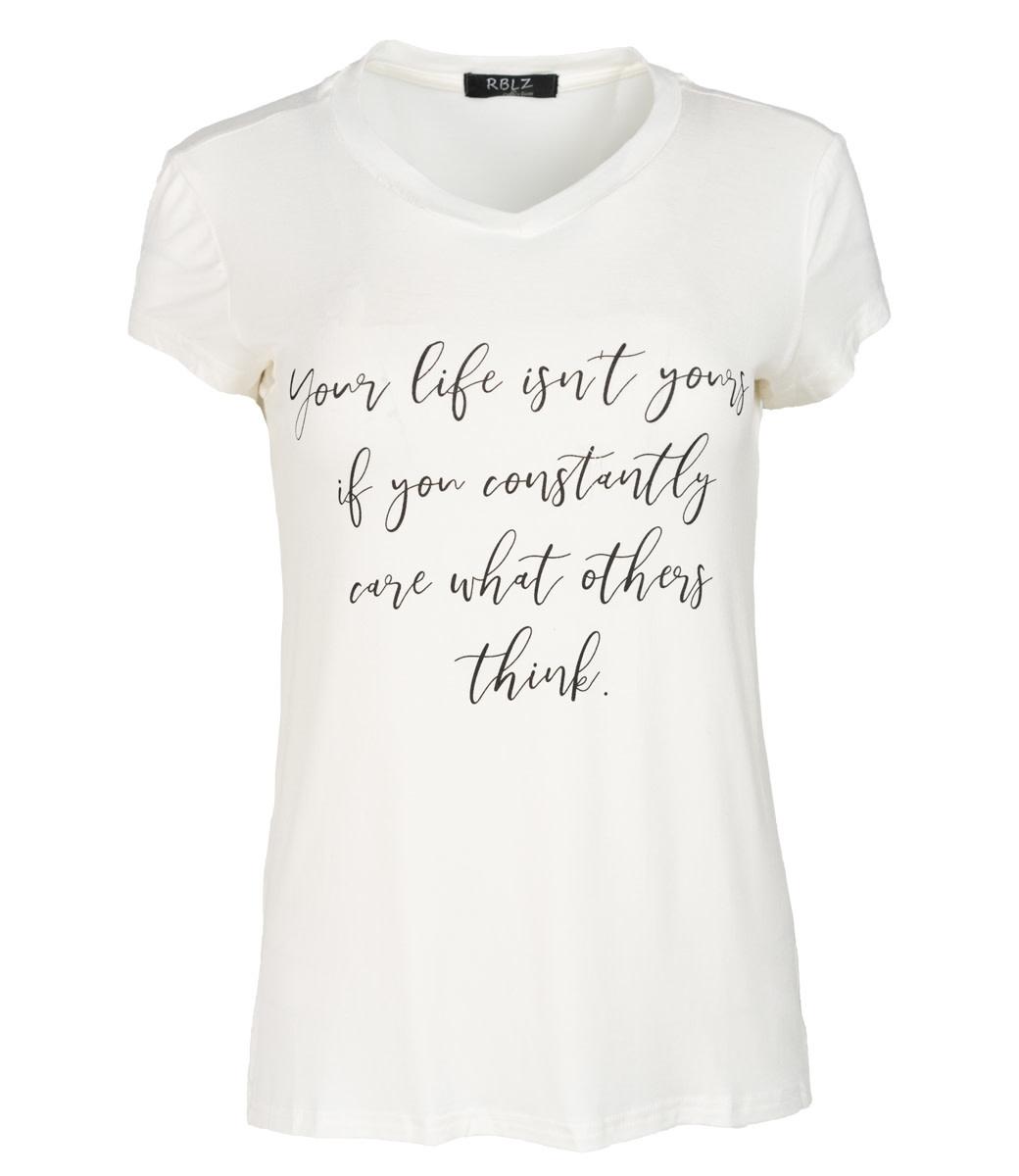 Rebelz Collection Shirt wit/zwart Mandy