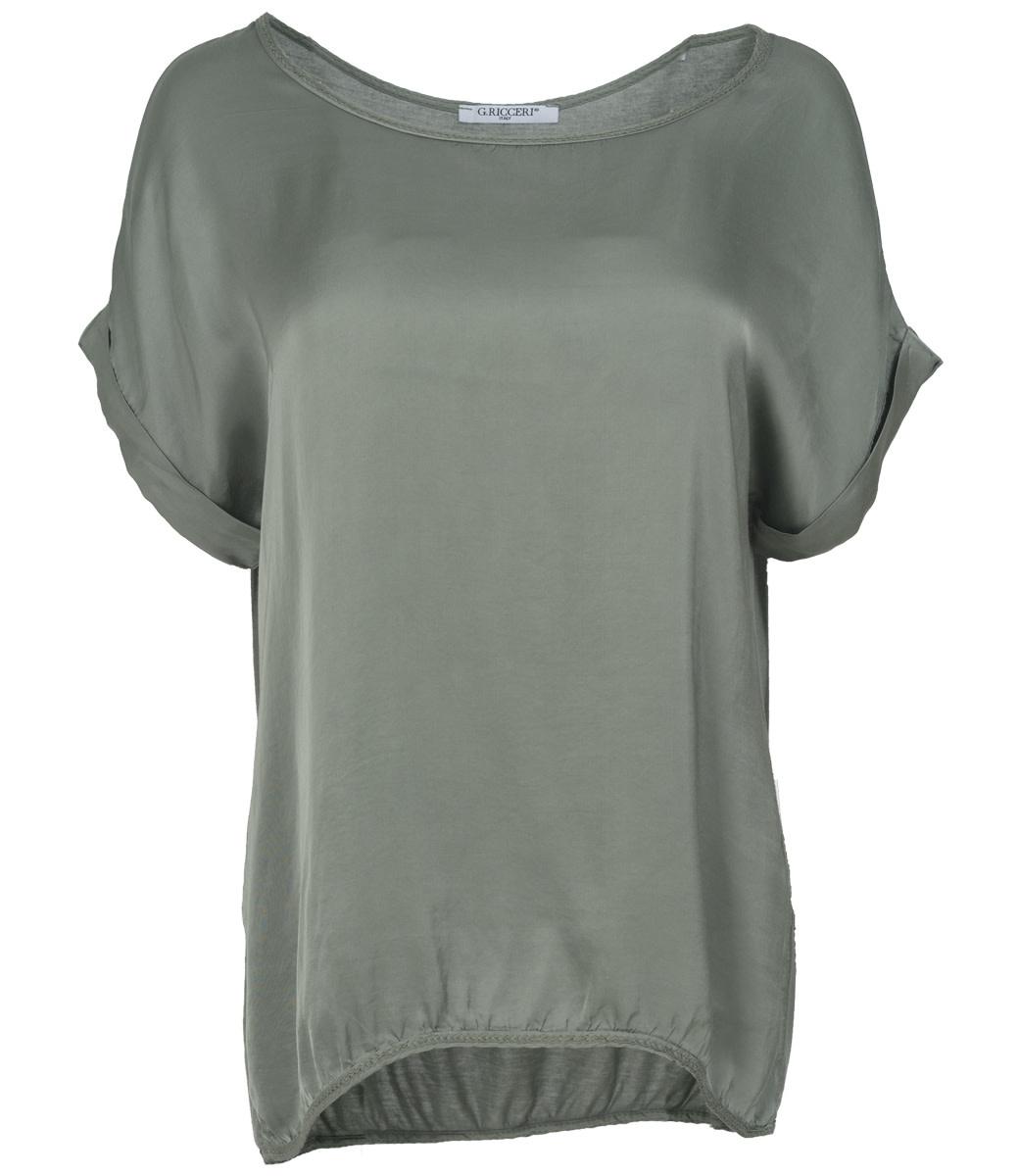 Gemma Ricceri Shirt army silk touch