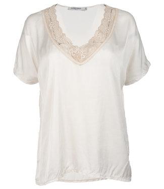 Gemma Ricceri Shirt satijn beige Anja