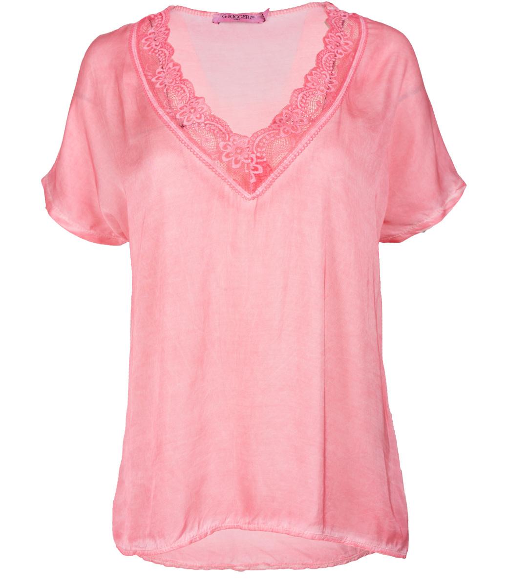Gemma Ricceri Shirt satijn roze Anja