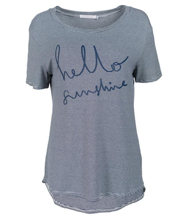 Gemma Ricceri Shirt streep blauw sunshine