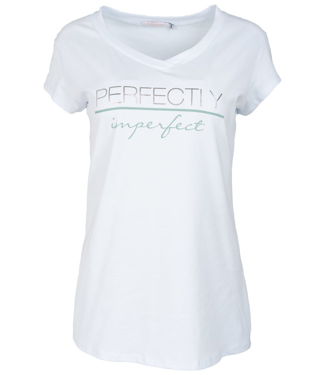 Gemma Ricceri Shirt wit/groen Imke