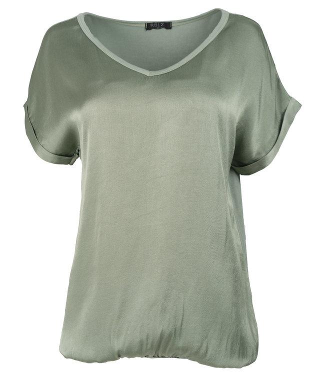 Rebelz Collection Shirt groen Anna v hals