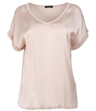 Rebelz Collection Shirt roze Anna v hals