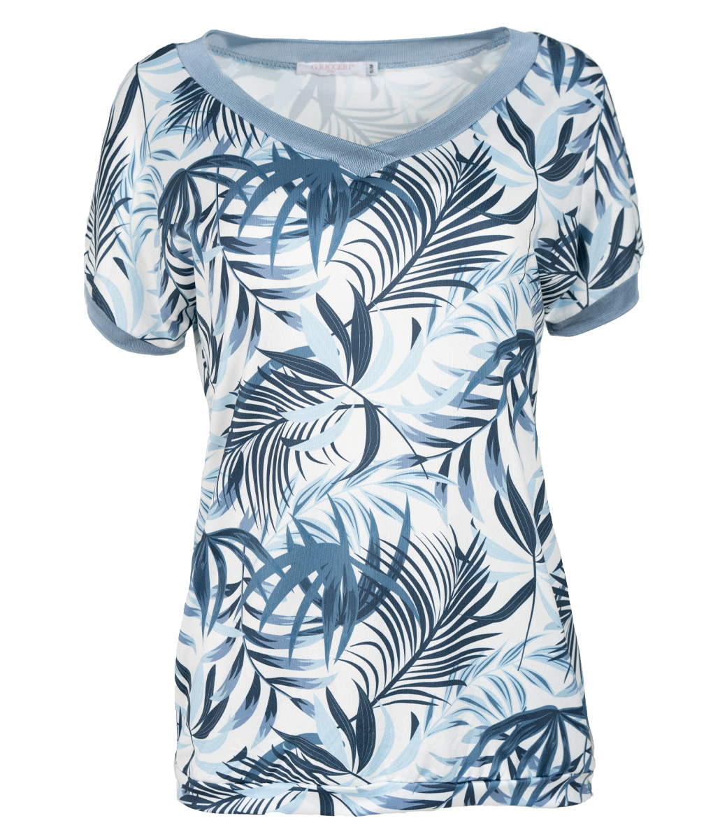 Gemma Ricceri Shirt blauw print Nancy
