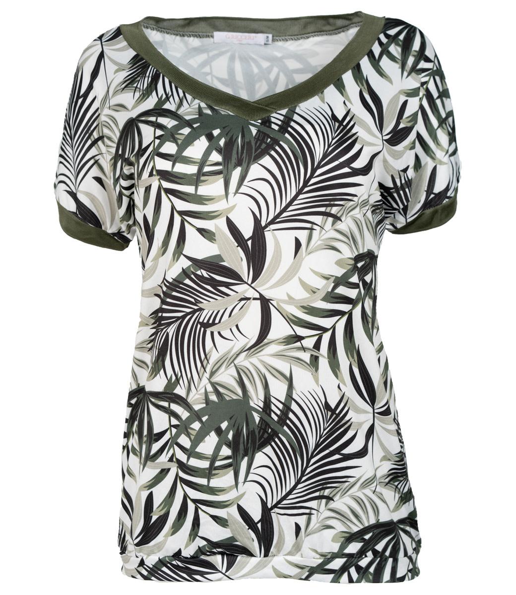 Gemma Ricceri Shirt groen print Nancy